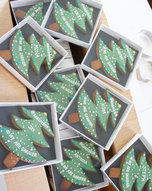 Christmas Tree Cookies - Tuck Box Cakes