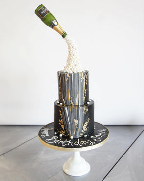 Champagne Celebration Cake - Tuck Box Cakes