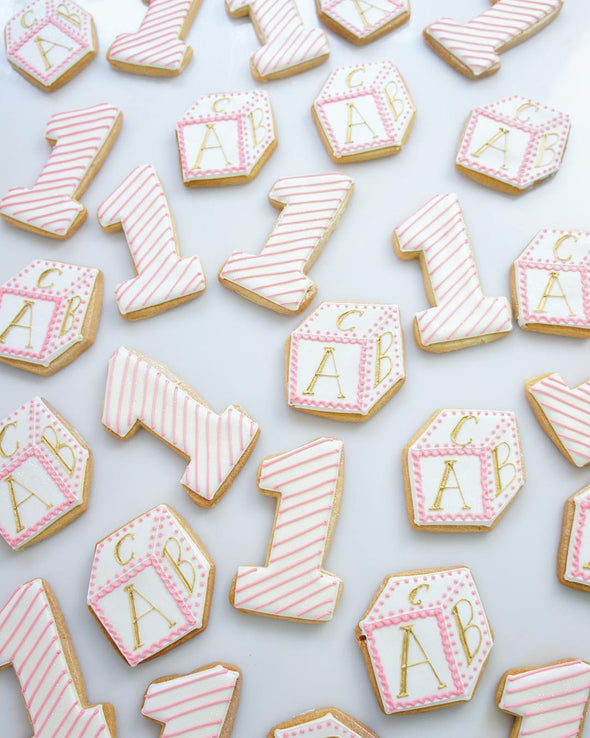 Baby Block Cookies - Tuck Box Cakes