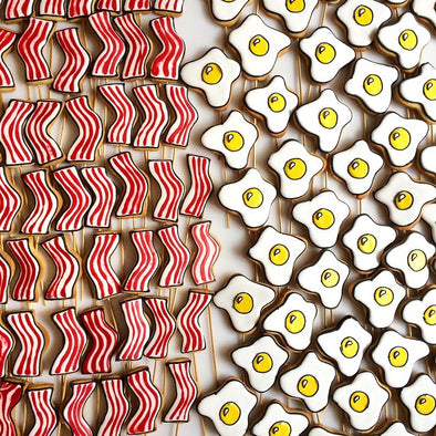 Bacon And Egg Cookies - Tuck Box Cakes