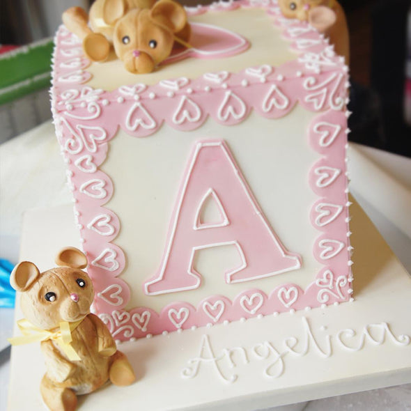 Bear Building Block Cake - Tuck Box Cakes