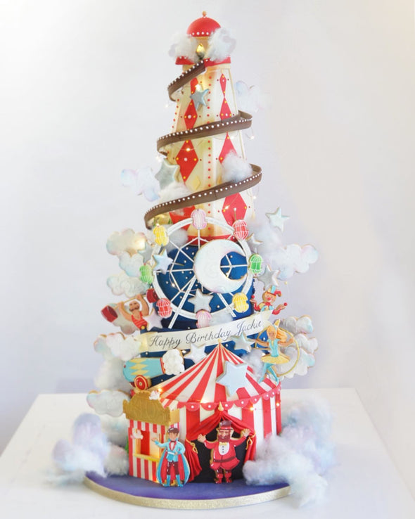 Helter Skelter Circus Cake - Tuck Box Cakes