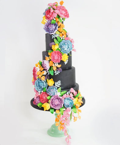 Colour splash floral cake - Tuck Box Cakes