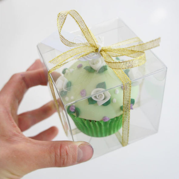 Boxed sweet flowers cupcake - Tuck Box Cakes