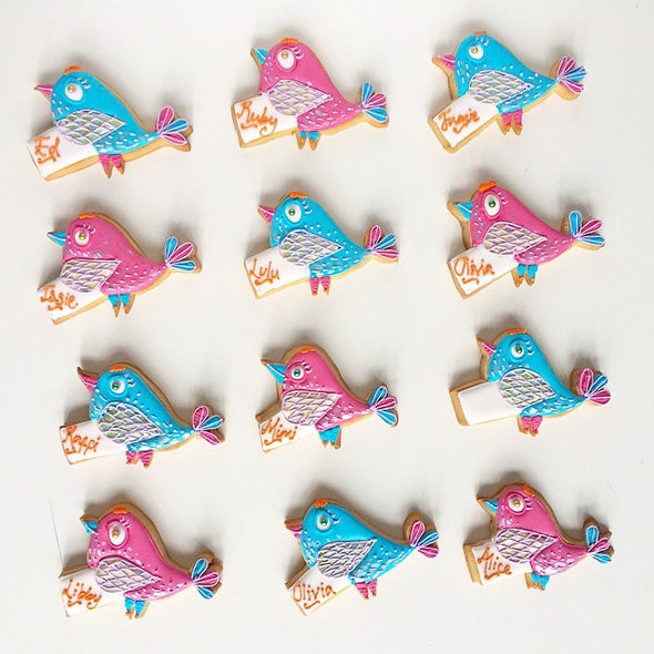 Bright Bird Party Favours - Tuck Box Cakes