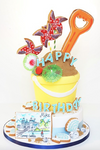 Day at the seaside cake - Tuck Box Cakes