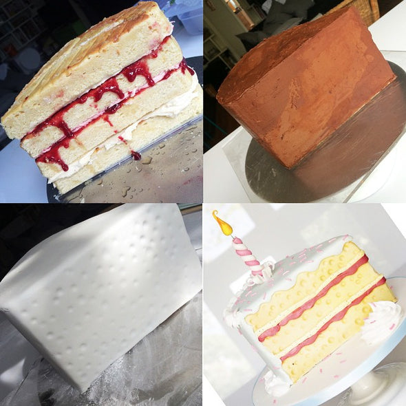 Giant Cake Slice Cake - Tuck Box Cakes