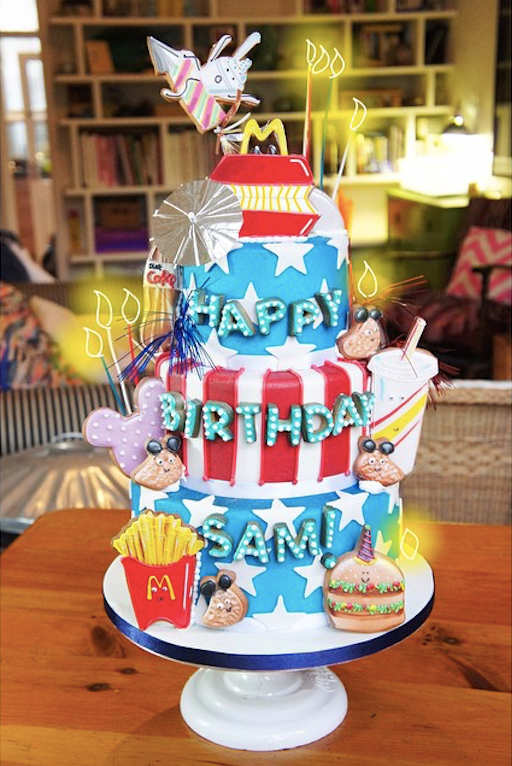 Cute McDonalds Cake - Tuck Box Cakes