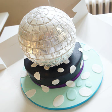 Disco ball cake - Tuck Box Cakes