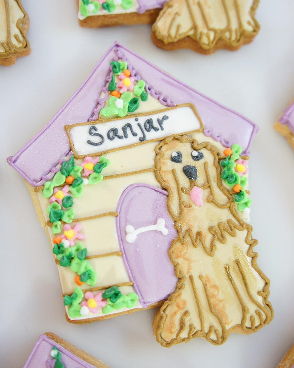 Dog And Kennel Cookies - Tuck Box Cakes