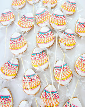 Easter Egg Cookie Pops - Tuck Box Cakes