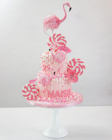 Pretty Flamingo Cake - Tuck Box Cakes