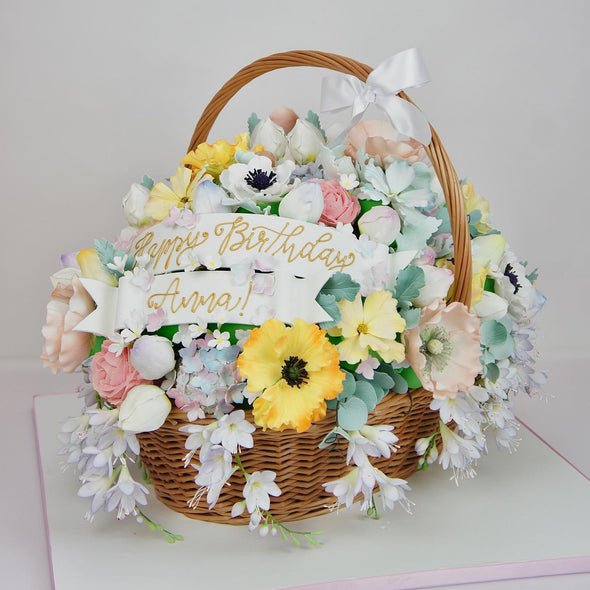 Flower basket Cake - Tuck Box Cakes