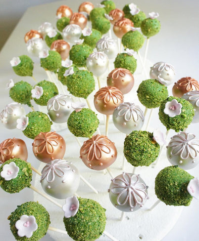 Garden topiary cake pops - Tuck Box Cakes