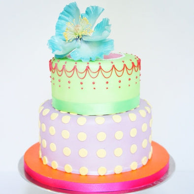 Acid Colour Geo Poppy Cake - Tuck Box Cakes