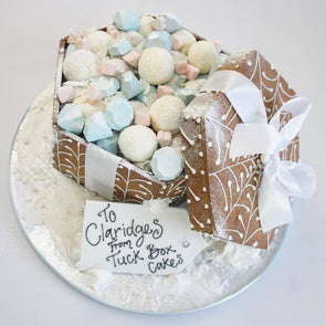 Gingerbread Chocolate Box - Tuck Box Cakes