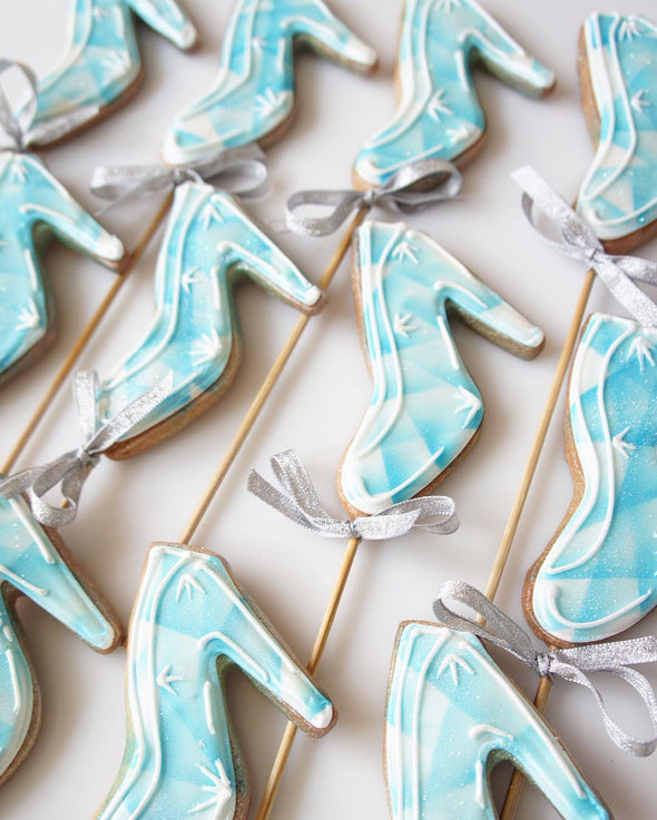 Glass Slipper Cookies - Tuck Box Cakes