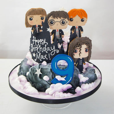 Harry Potter Single Tier Cake - Tuck Box Cakes