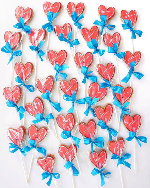 Candy heart Lolly Cookie Pops - Tuck Box Cakes