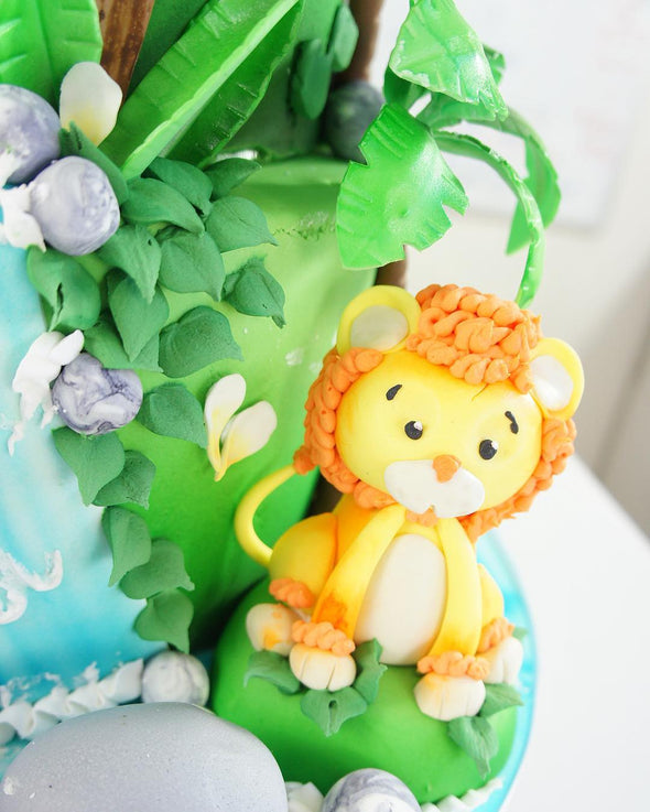Tiered Jungle Cake - Tuck Box Cakes