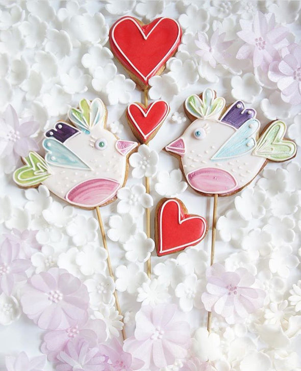 Love Bird Cookies - Tuck Box Cakes
