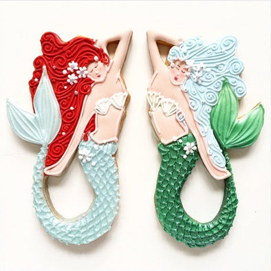 Mermaid Cookies - Tuck Box Cakes