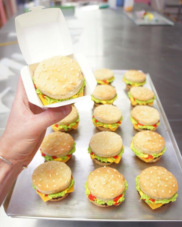 Mini Burgers - Tuck Box Cakes