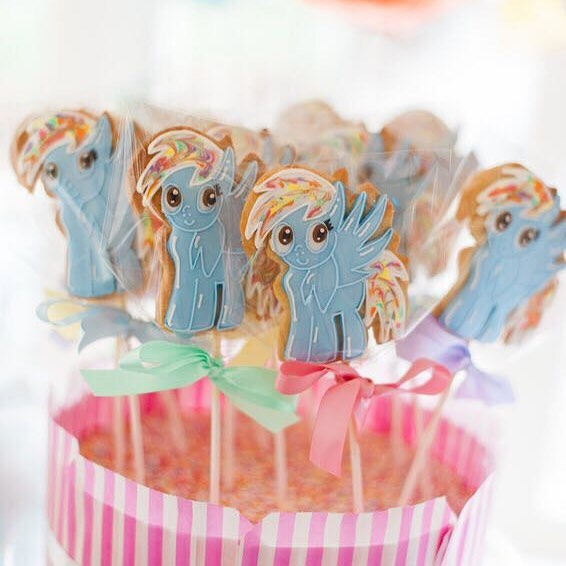 My Little Pony Cookie Pops - Tuck Box Cakes