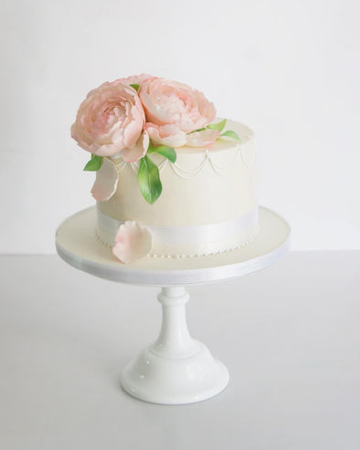 Peonies In Bloom Cake - Tuck Box Cakes