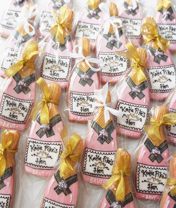 Champagne Bottle Cookies - Tuck Box Cakes