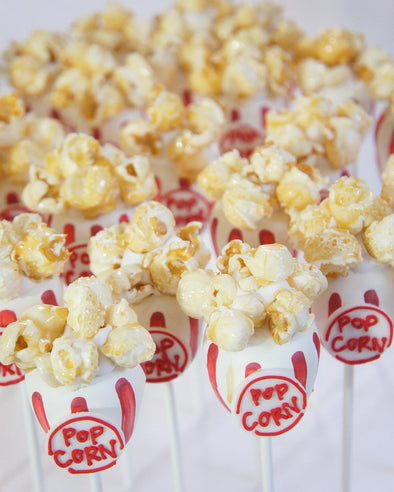 Popcorn Bucket Cake Pops - Tuck Box Cakes