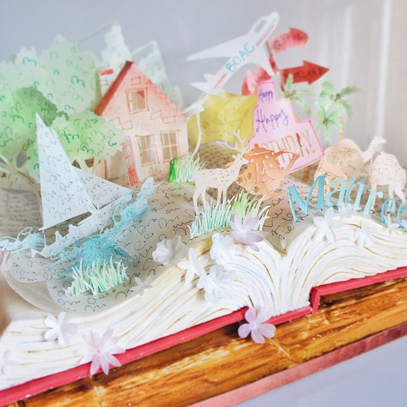 Pop up book cake - Tuck Box Cakes