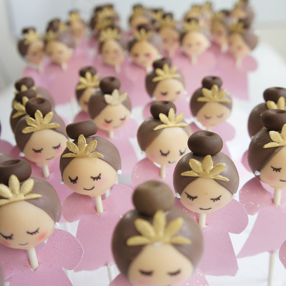 Pink Princess cake pops - Tuck Box Cakes
