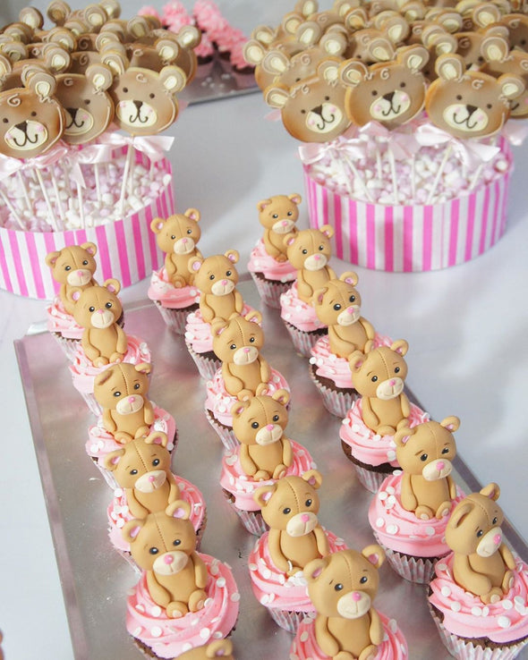 Teddy bear cupcakes - Tuck Box Cakes