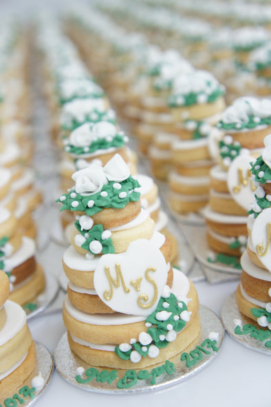 Tiered Wedding Cookie Cakes