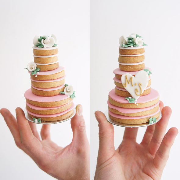 Naked Tiered Cookie Cake - Tuck Box Cakes