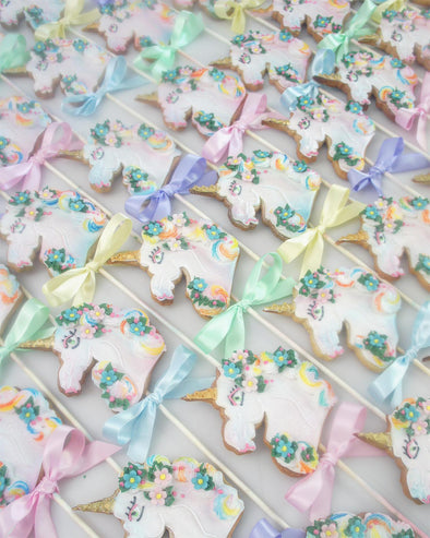 Unicorn Cookie Pops - Tuck Box Cakes