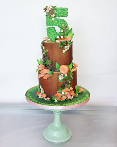 Woodland tree stump cake - Tuck Box Cakes