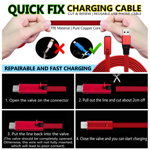 quick fix charging cable 24