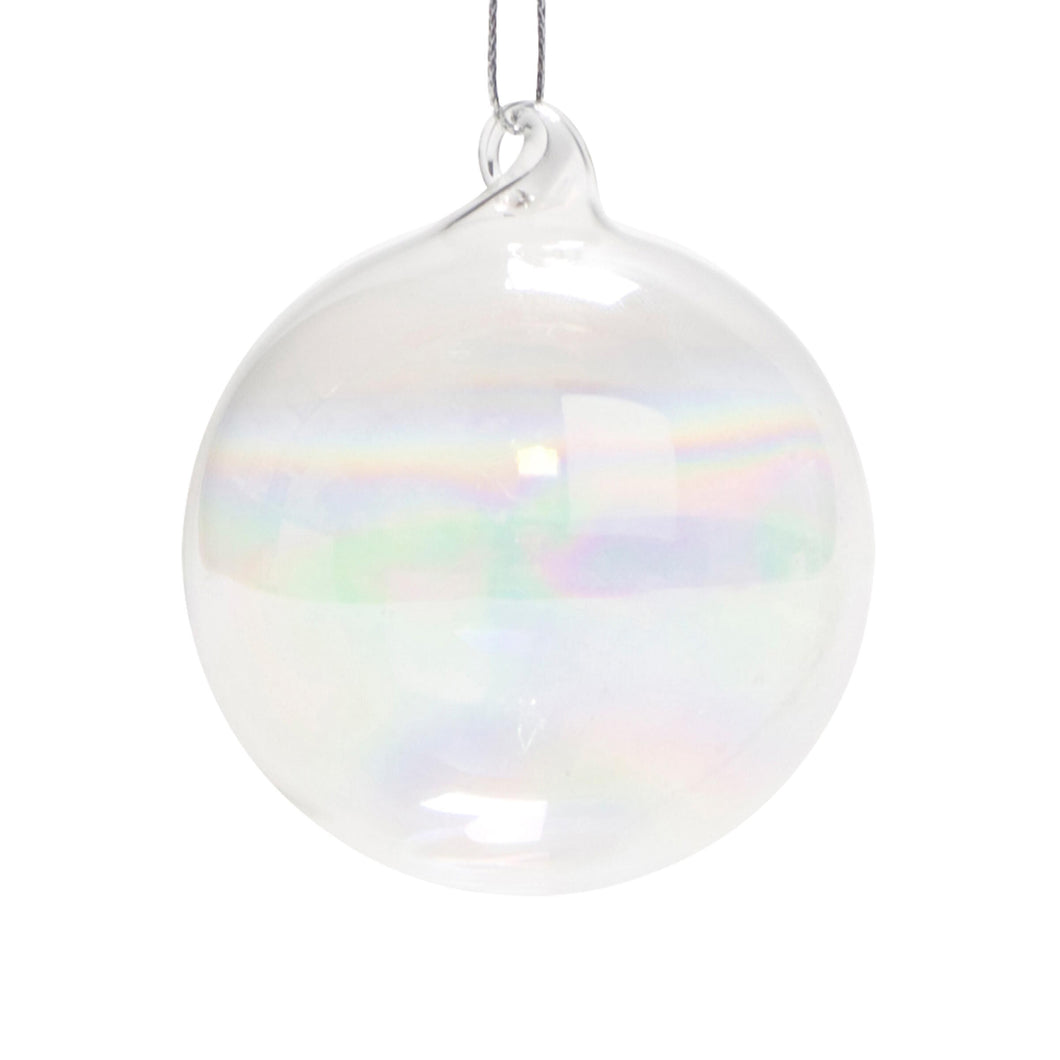 HANG ON ornament glass clear D10cm