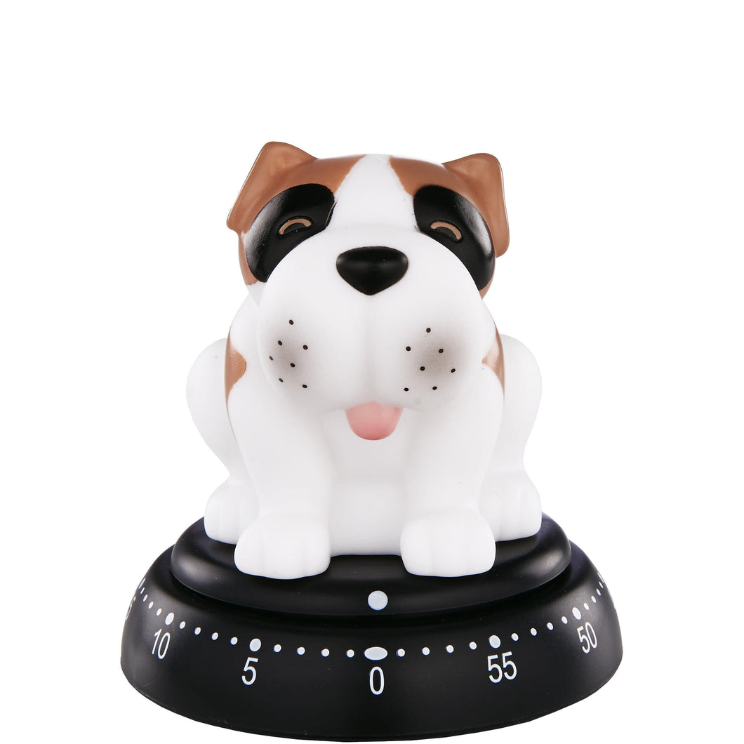 TIME BANDITS egg timer dog white
