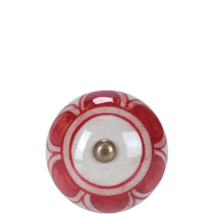 OPEN furniture knob round ornament red