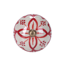 Load image into Gallery viewer, OPEN furniture knob ornament red