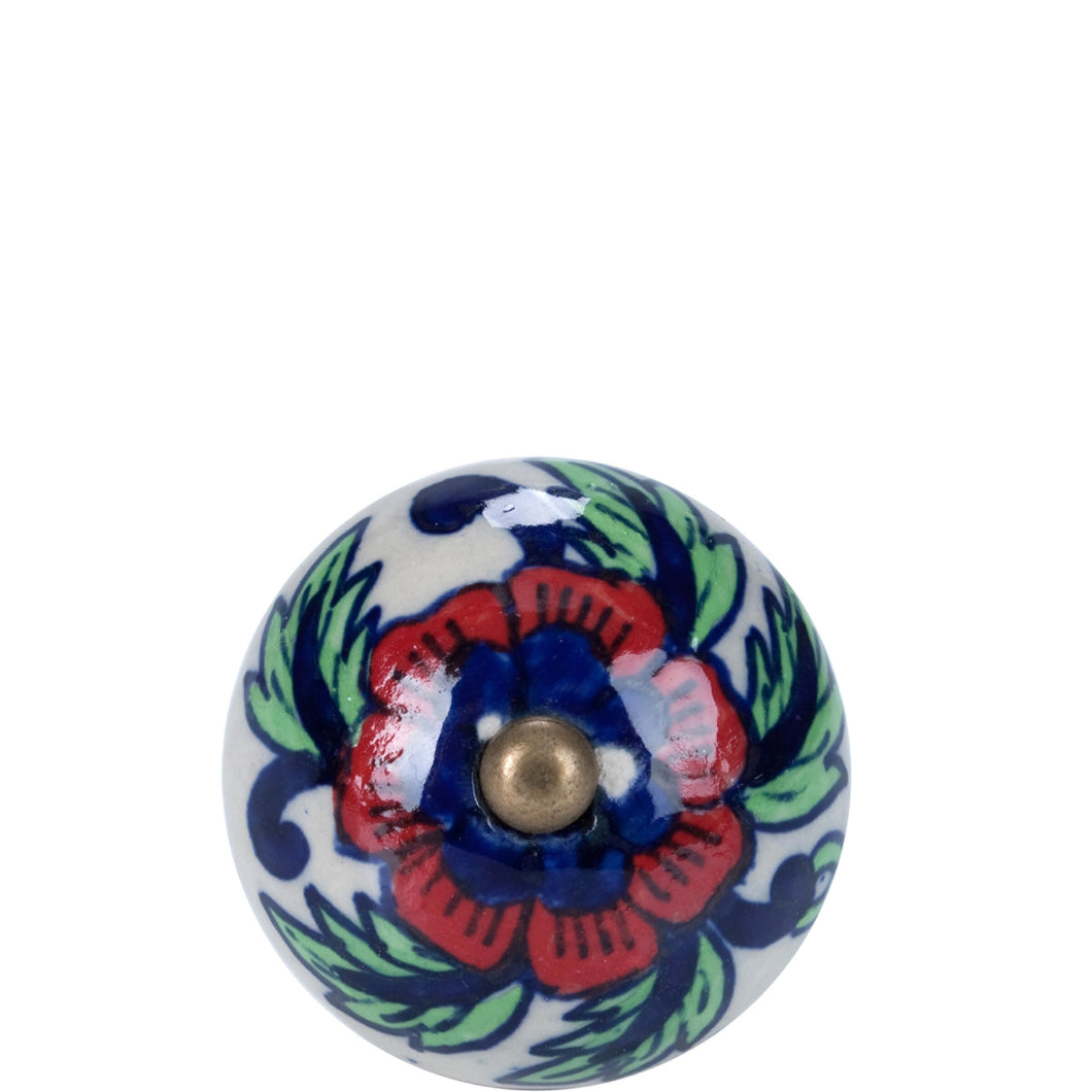 OPEN furniture knob ornament red-blue
