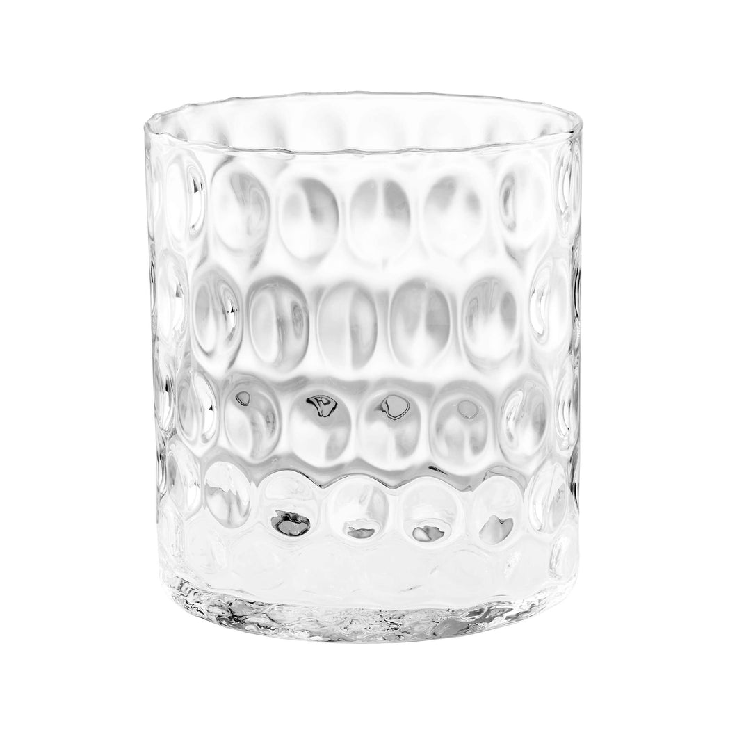 AGATA clear vase with dots 22cm