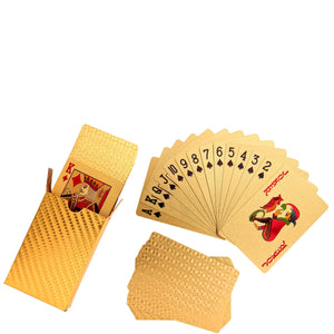 CASINO playing cards gold small