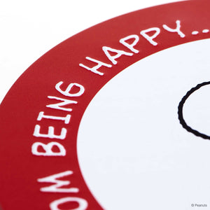 PEANUTS box Snoopy/biscuit round