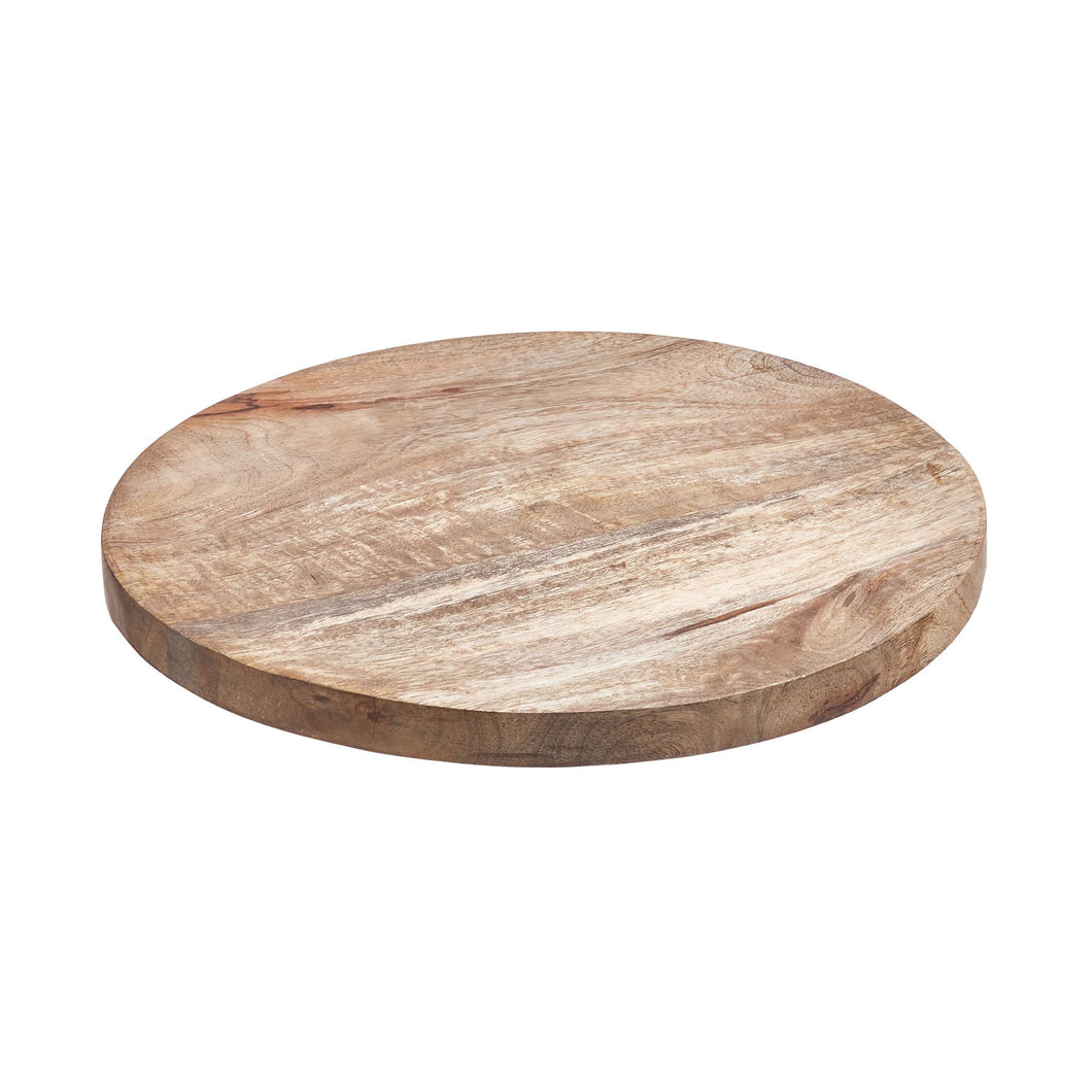 FOREST decoration plate mango wood, 30cm