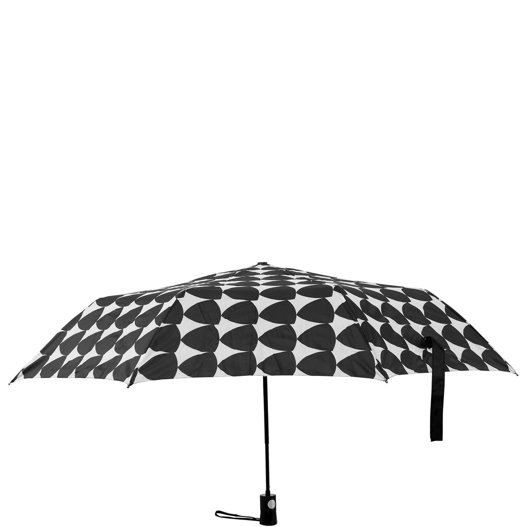 RAIN OR SHINE foldable umbrella black/w