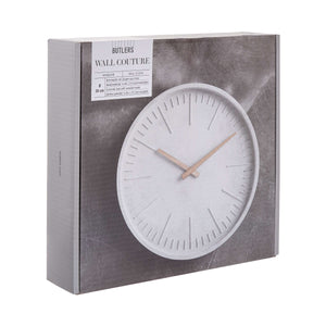 WALL COUTURE wall clock concrete Ø30cm